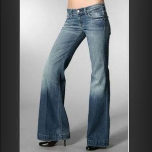 7 For All Man Kind ginger denim jeans flare 27